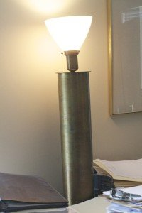 A lamp made from oil field piping